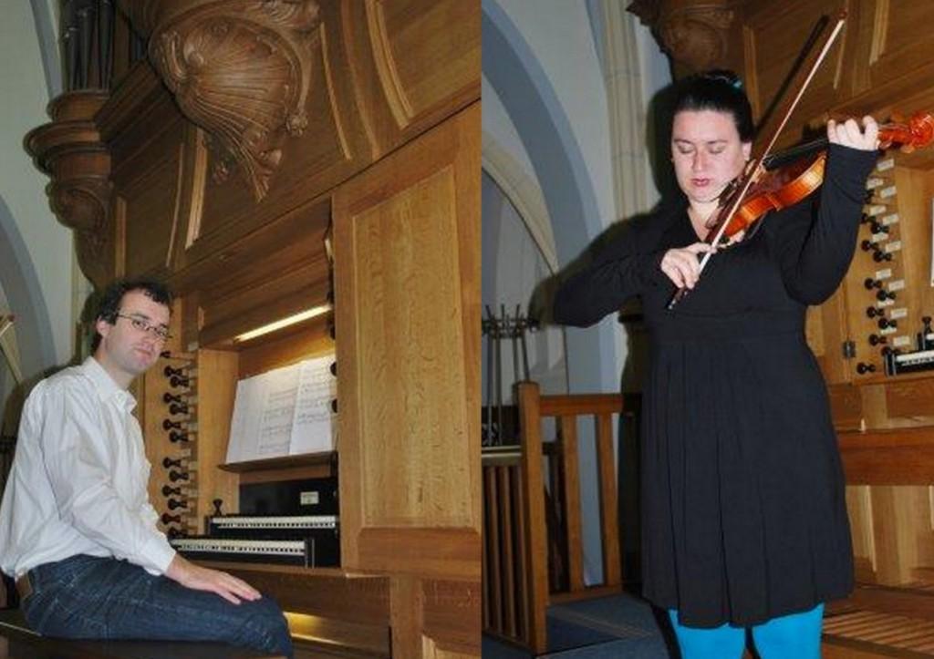 Organist: Matthias Sars en Janine Sars viool concert 06-10-2013